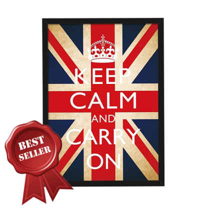 Keep Calm and Carry On Wall Painting - TY3060