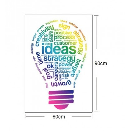 Office Inspirational Light Bulb Stickers Decoration for Office
