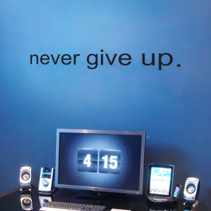 36 cm x 6 cm Office Inspiration Quotes Never Give Up Wall Sticker First Generation