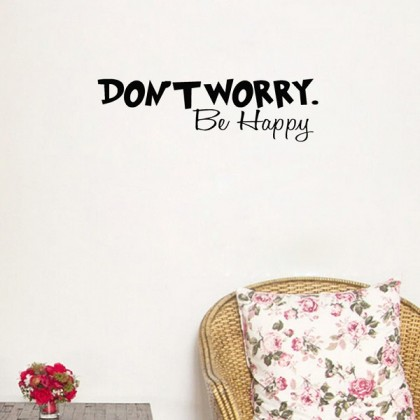 Inspirational Quotes Don't Worry Be Happy- TYYY2993