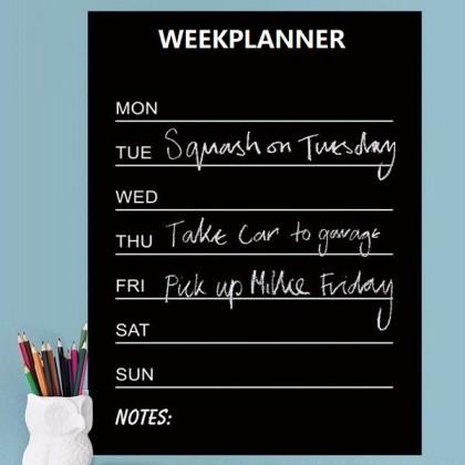 Hot Selling Week Planner Chalkboard Office Decal- YP09