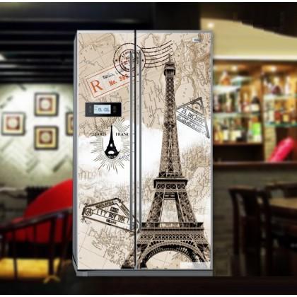 European style retro Eiffel Tower refrigerator refurbished stickers