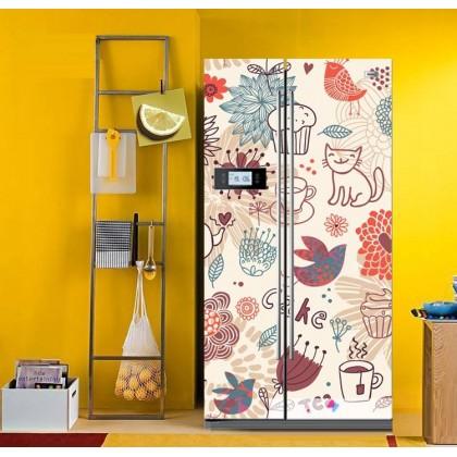 Lovely Cartoon Cat refrigerator refurbished adhesive stickers