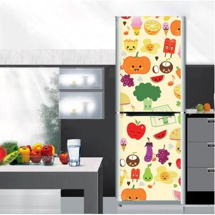 Lovely fruit fridge refurbished sticker
