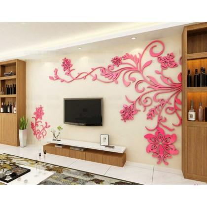 3D Acrylic Modern Decor Backdrop Wall Sticker - AC07