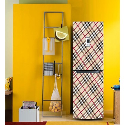Burberry grid refrigerator refurbished stickers