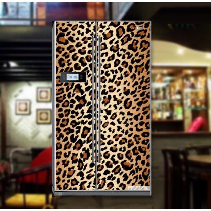 Leopard print refrigerator refurbished stickers