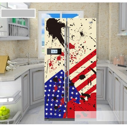 Non mainstream national flag to beautify the refrigerator refurbished stickers
