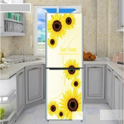 Sunflower refrigerator refurbished stickers