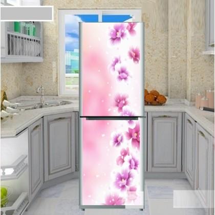 Dream pink flowers refrigerator refurbished stickers