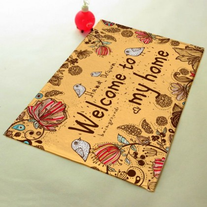 """Welcome To My Home"" - The Bird Mat Carpet Fashion - MM165"