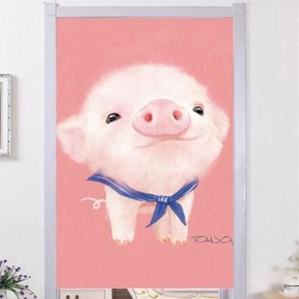 Cute Pigs For Sale Cloth door curtain - CUR188 [PRE ORDER 2-5 WEEKS]
