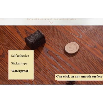 (Wood) Wood Texture Contact Paper PVC Waterproof Self Adhesive Wallpaper Sticker