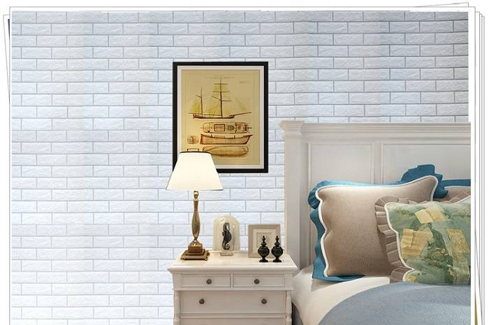 White Brick Pattern Peel And Stick Wallpaper Contact Paper