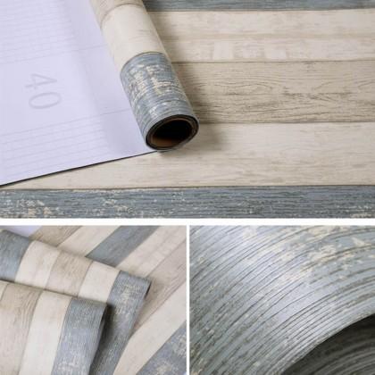 (Wood) Stripe Texture Wood Contact Paper PVC Waterproof Wallpaper Sticker