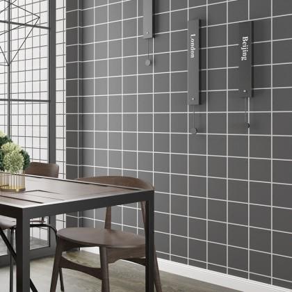 Grey Grid Self-Adhesive Sticker Contact Paper Waterproof Wallpaper [ pre order ]