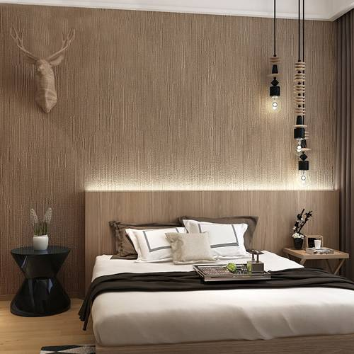 Japanese Style Dark Brown Wallpaper For Bedroom And Living Room
