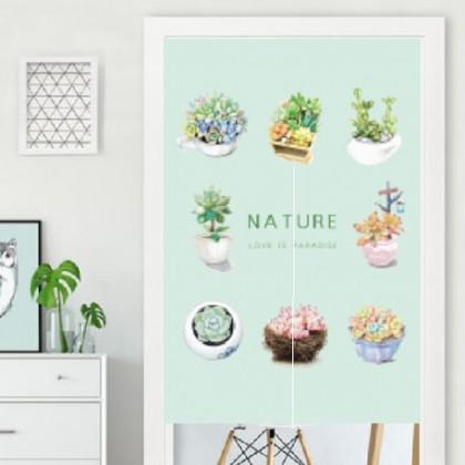 Plants- door curtain free curtain rod - code: cur202