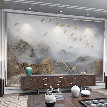 Flying Bird Artistic Conception Mural Wallpaper-Mural1002