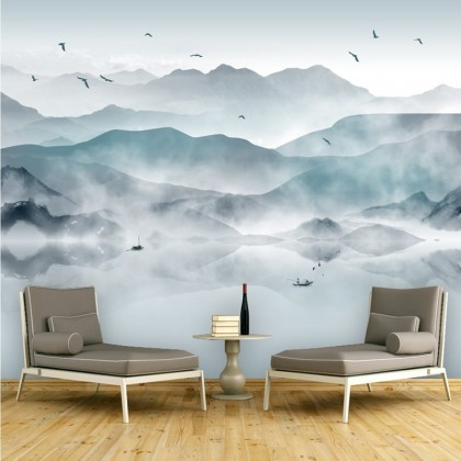 Traditional Chinese Ink Mural Wallpaper-Mural1003