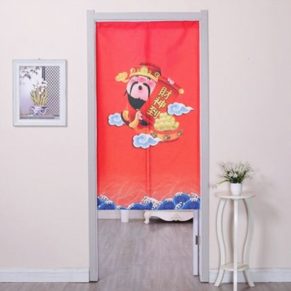 Feng Shui Lucky Cat door curtain for toilet partition-cur35
