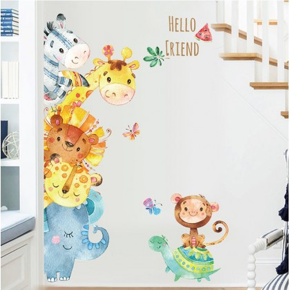 Cute Animal Cartoon 2D Wall Stickers - TYXL8360