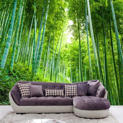 Chinese Bamboo Forest Mural Wallpaper-Mural1010