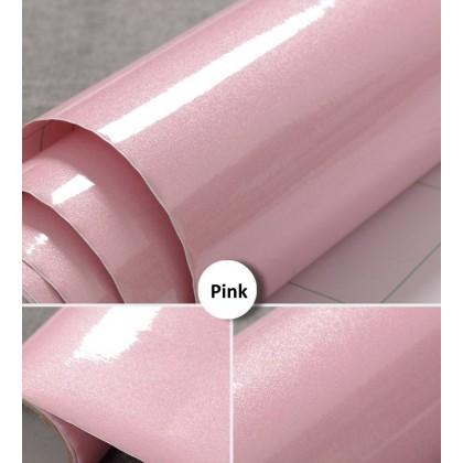 Shiny Pink Pearlescent Contact Wallpaper Stickers
