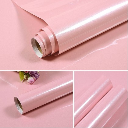 (Plain) Shiny Pink Pearlescent Contact Paper Wallpaper Stickers
