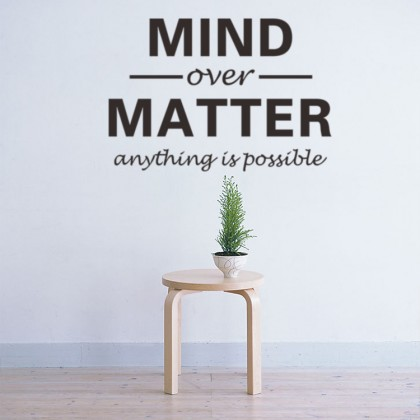 """Mind Over Matter"" Wallsticker- TY2692"