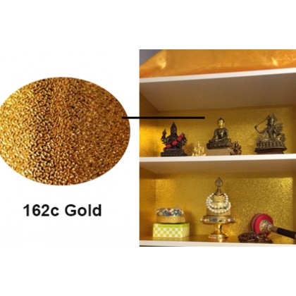 Aluminium Foil Paper Golden Furniture Stove Oil-proof Waterproof Kitchen Stickers -Gold Color