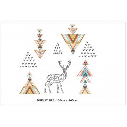 Elk Deer Art 2D Wall Stickers - TYJM7332