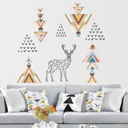 Elk Deer Art 2D Wall Stickers - TYJM7332
