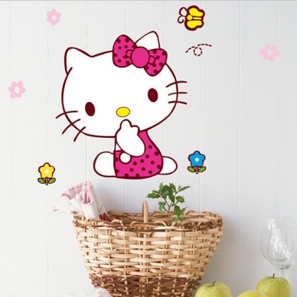 Hello kitty wall art decoration self-adhesive sticker