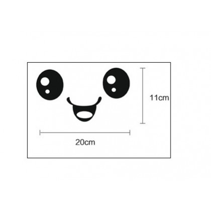 Cute smile eyes wall art decoration removable sticker