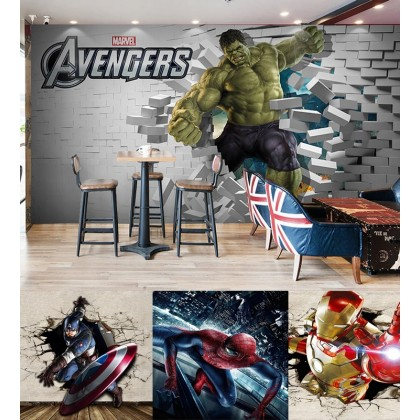 The Avengers Mural Wallpaper Wall Art Home Decoration Background