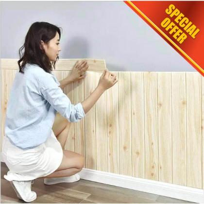 3D Wood Texture Waterproof Wallpaper Home Decoration Sticker