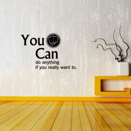 40cm x 60cm  Inspirational Quotes You Can Do Anything Wall Sticker For Office Living Room