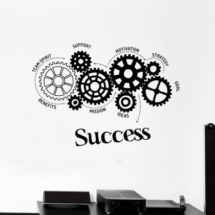 Office Inspirational Success Strategy Wall Sticker