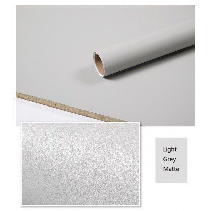 Matte Grey Contact Paper Waterproof Wallpaper Sticker