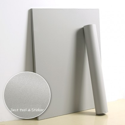 (Plain) Matte Grey Contact Paper Waterproof Wallpaper Sticker