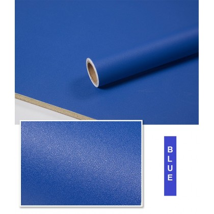 Matte Blue Contact Paper Waterproof Peel and Stick for Kitchen Countertops Cabinets Furniture Self Adhesive Waterproof Decorative Wallpaper Sticker