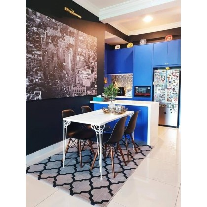 (Plain) Matte Blue Contact Paper Waterproof Peel and Stick for Kitchen Countertops Cabinets Furniture Self Adhesive Waterproof Decorative Wallpaper Sticker