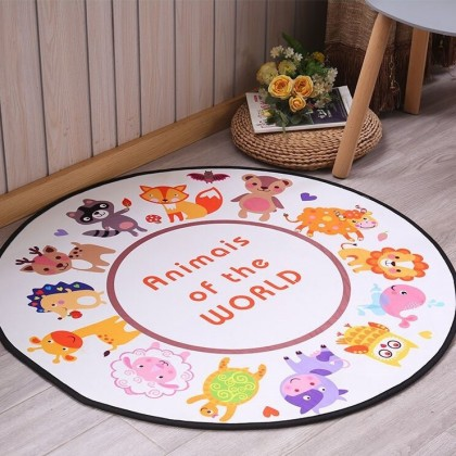 Animals of the world home decoration carpet [80cm x 80cm]