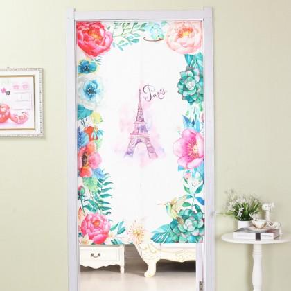 Eiffel tower flowers rose home decoration door curtain