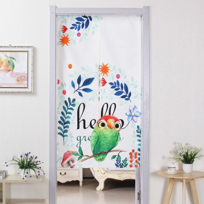 Hello parrot green leaves home decoration door curtain