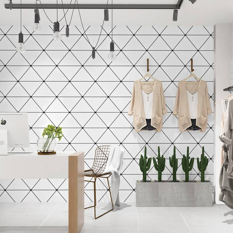 Nordic Style Geometric Triangle Background Wallpaper Home