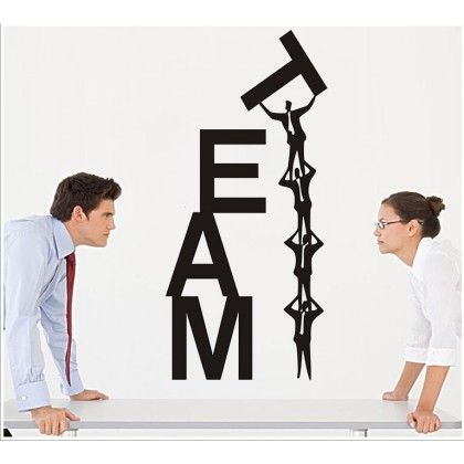 Office Inspirational Quotes Teamwork Wall Art Decoration Removable Sticker