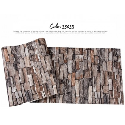 3D Traditional Red Brick Texture Non-Adhesive Wallcovering Wallpaper