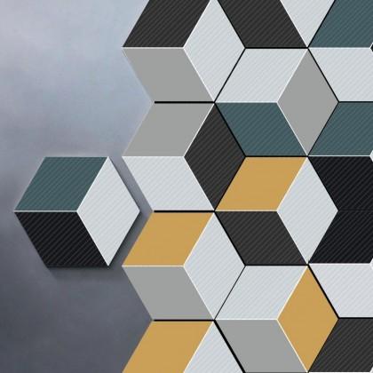 3D CUBE HEXAGON KITCHEN IMITATION TILES WALL STICKER